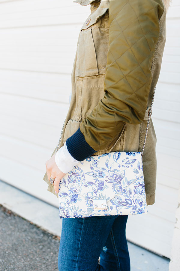 Utility jacket with floral outfit ideas, Waiting on Martha