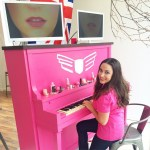 Jamming on my pink piano