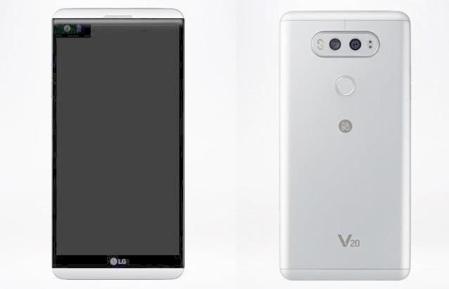 LG V20デザイン