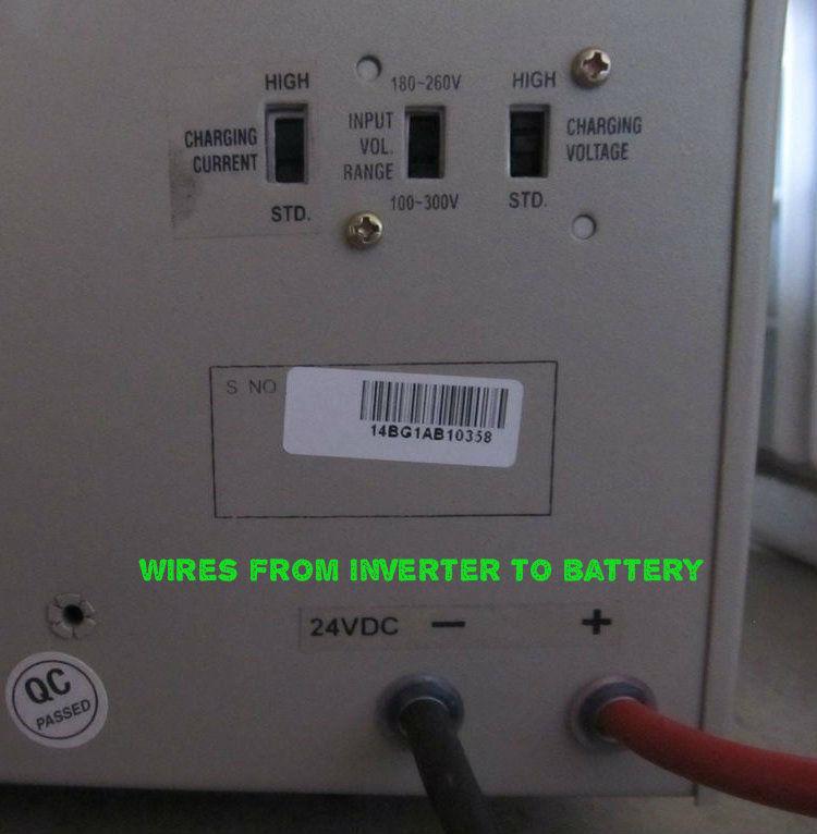 Inverter wiring
