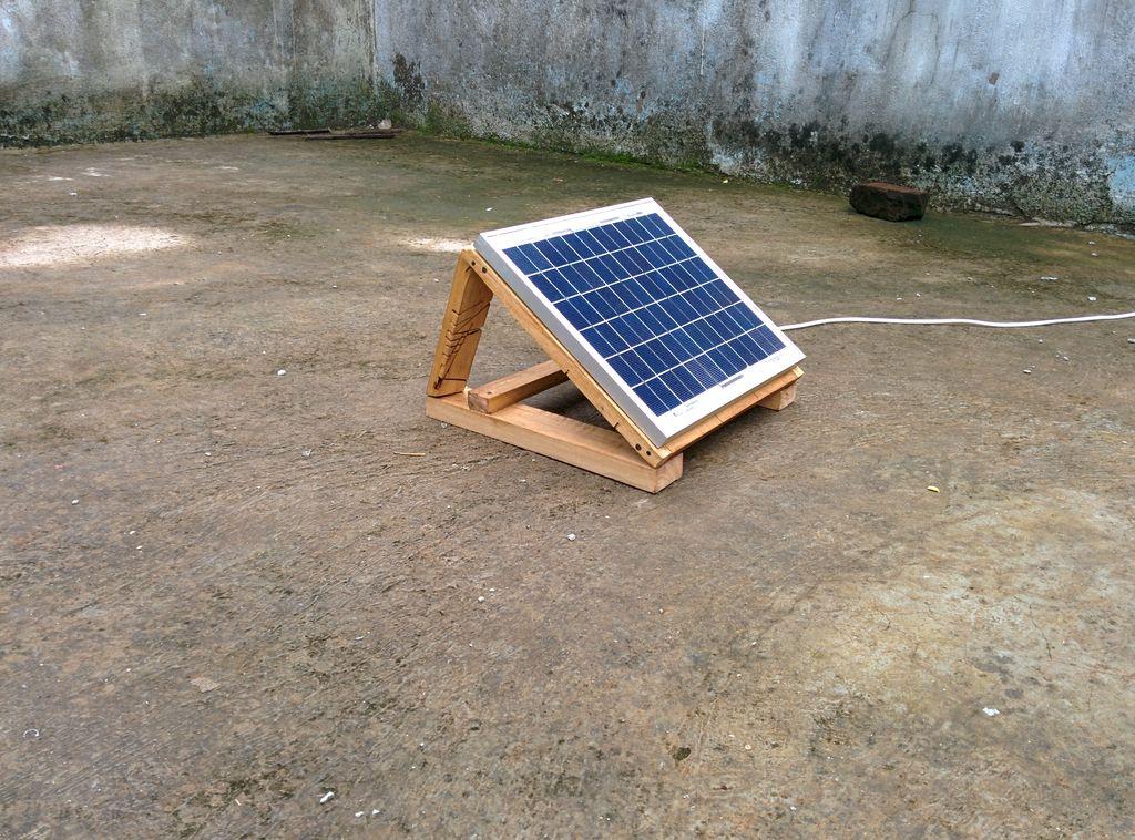 10 watt solar panel mounted