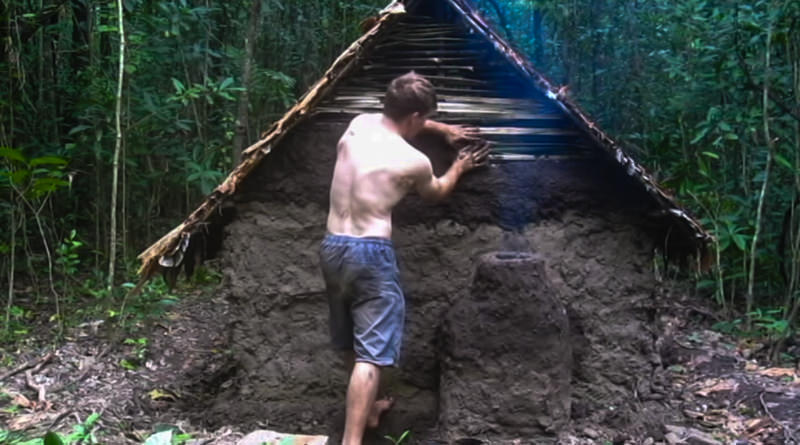 Primitive Shelter in the woods