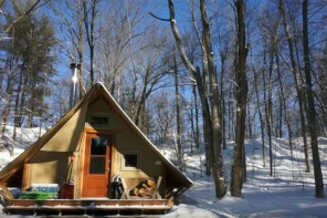 4-Season Off-Grid Prospector-Style Tent: A Tiny House Alternative