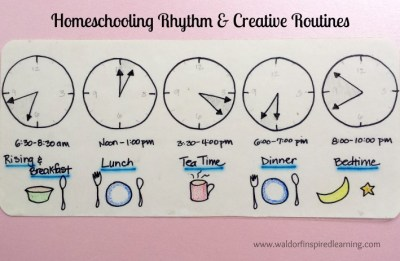 Homeschooling Rhythm & Creative Routines