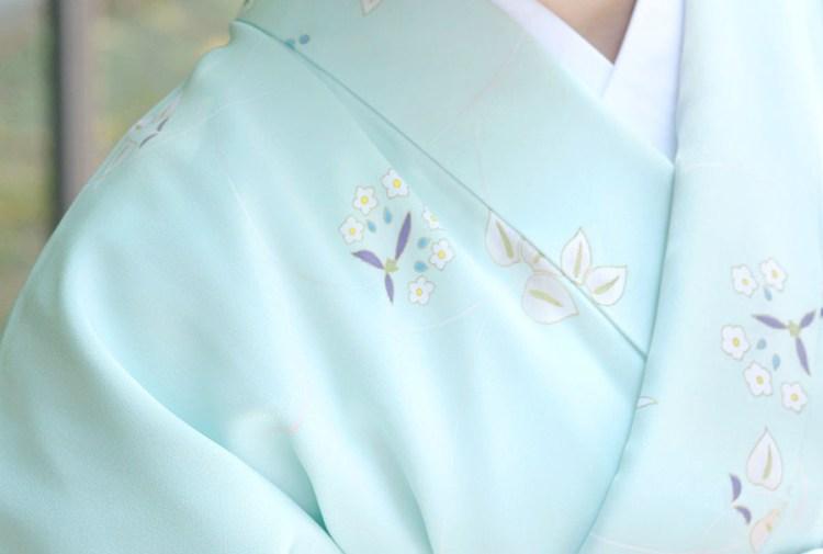 しっとりた正絹着物 宅配レンタル金額¥15,000