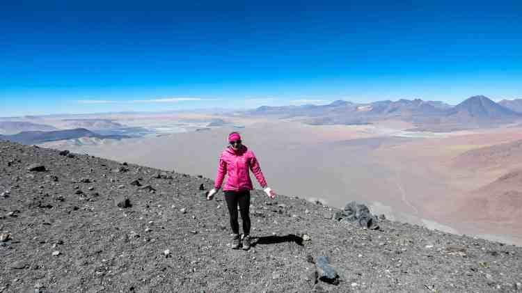 Enjoying the high summit of Lascar Volcano