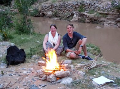 camp fire Morocco