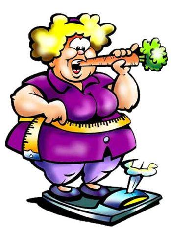 fet kvinna på våg