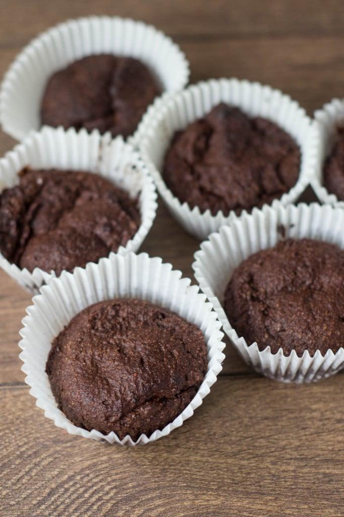 Flourless Chocolate Banana Muffins