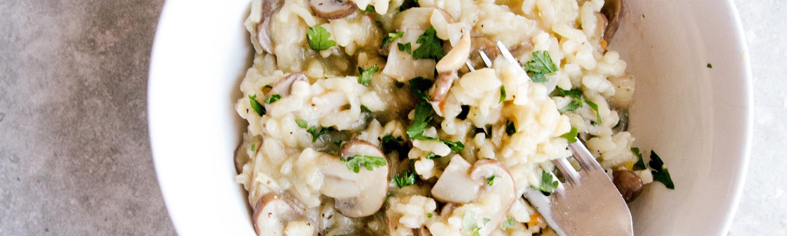 Creamy Mushroom Risotto (V + GF)