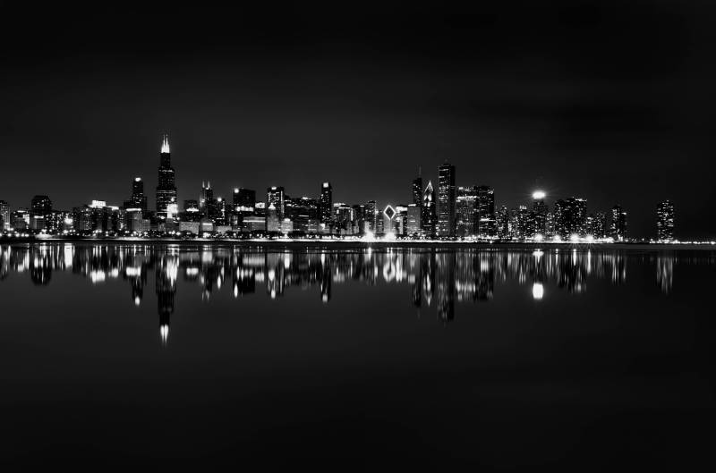 Large Of Chicago Skyline Wallpaper