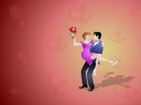 Valentine Lovers  Valentines Wallpaper. 1024 x 768.Animated Valentine Pictures Free Download