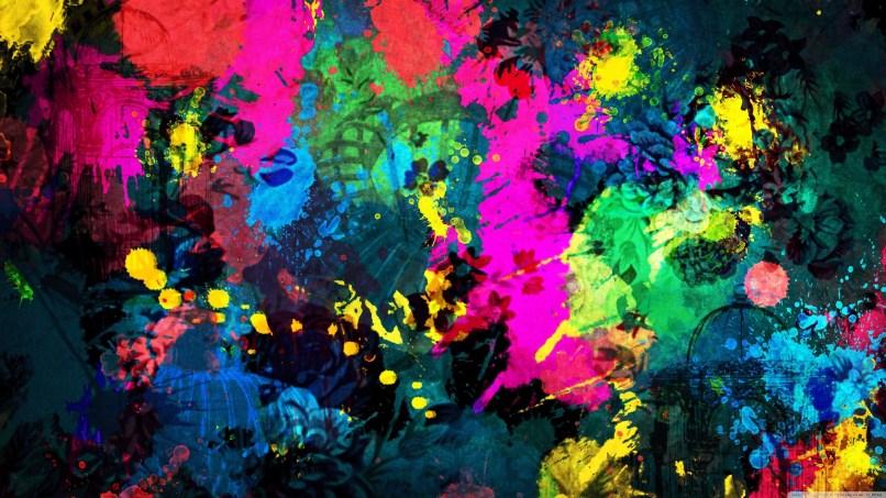 Colorful Paint Splatter K Hd Desktop Wallpaper For Ultra
