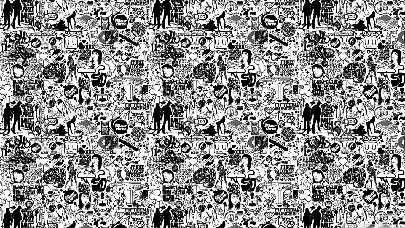 Fullsize Of Black And White Wallpaper