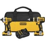 Discounted:  DEWALT DCK286D2 20V Max XR Lithium Ion Brushless Compact Hammerdrill and Impact Driver Combo Kit