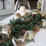 Christmas Tablescape: Rustic Glamour