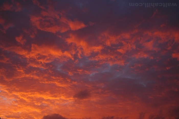 Firey Sunset: Furnace in the sky
