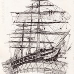 Cutty Sark: Drawn whille taking part in the 'Drawing London on Location: Tall Ships Festival'