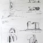 Henry Moore Foundatio: Drawings during visit to The Henry Moore Foundation, Perry Green, Essex.