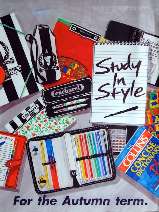 Back to School. Felt Marker Ilustrations