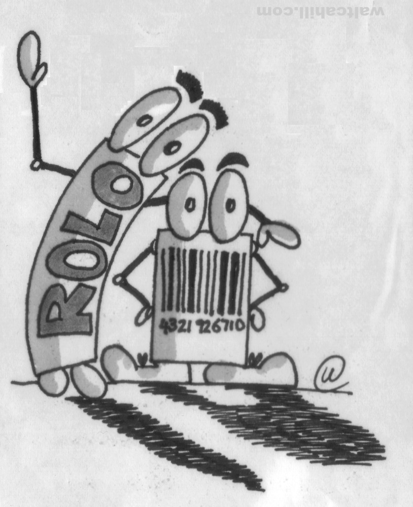 Barcode (and Rolo) characters for Selfridges (1991/2)
