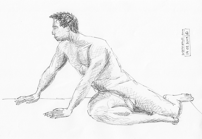 Covent Garden Life Drawing #227