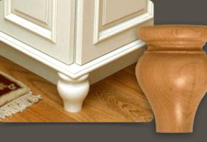 Cabinet Feet - Maple 130514 (Bun Feet)