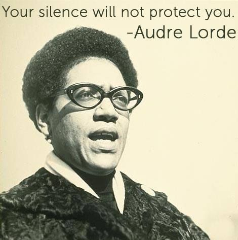 audre lorde on silence