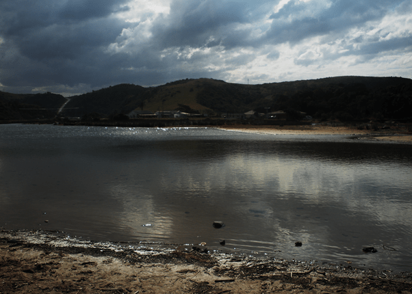 Lake at Coffee Bay, South Africa, South African landscapes