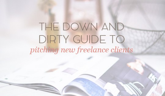 pitching new freelance clients