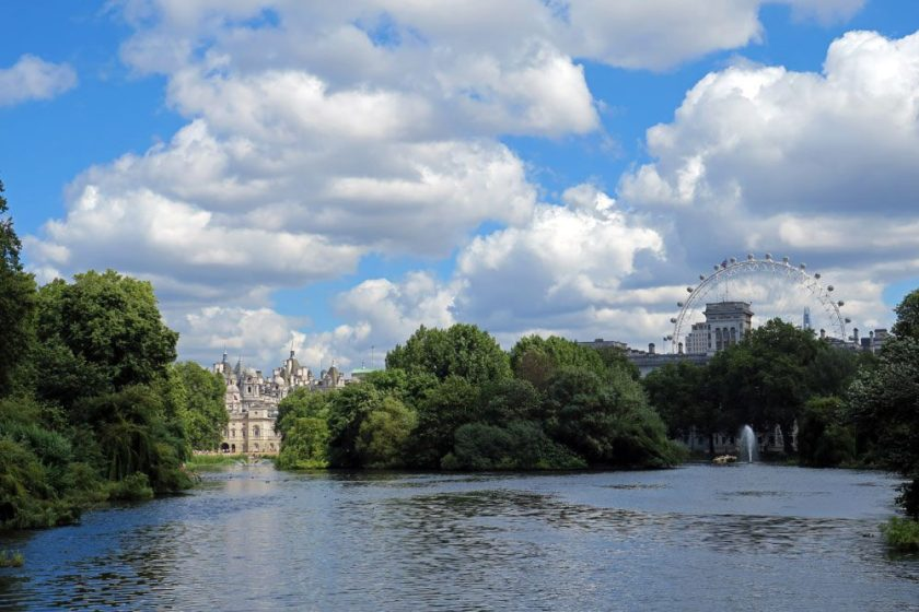 A London view from St. James' Park