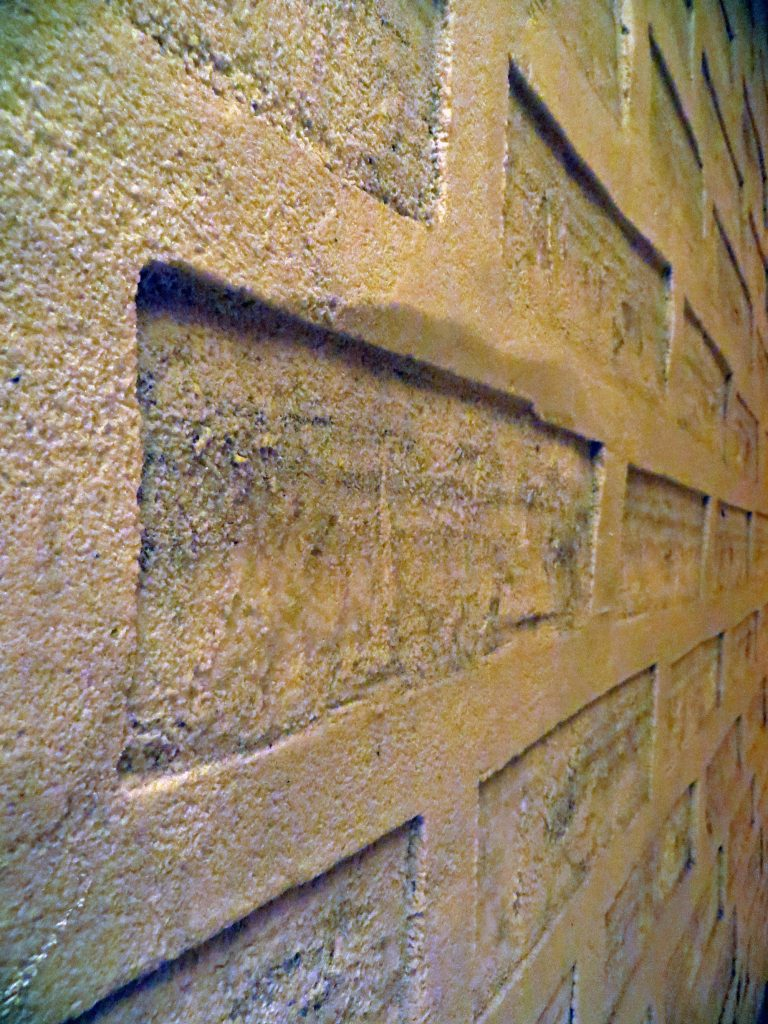 bricks at the salt hotel bolivia