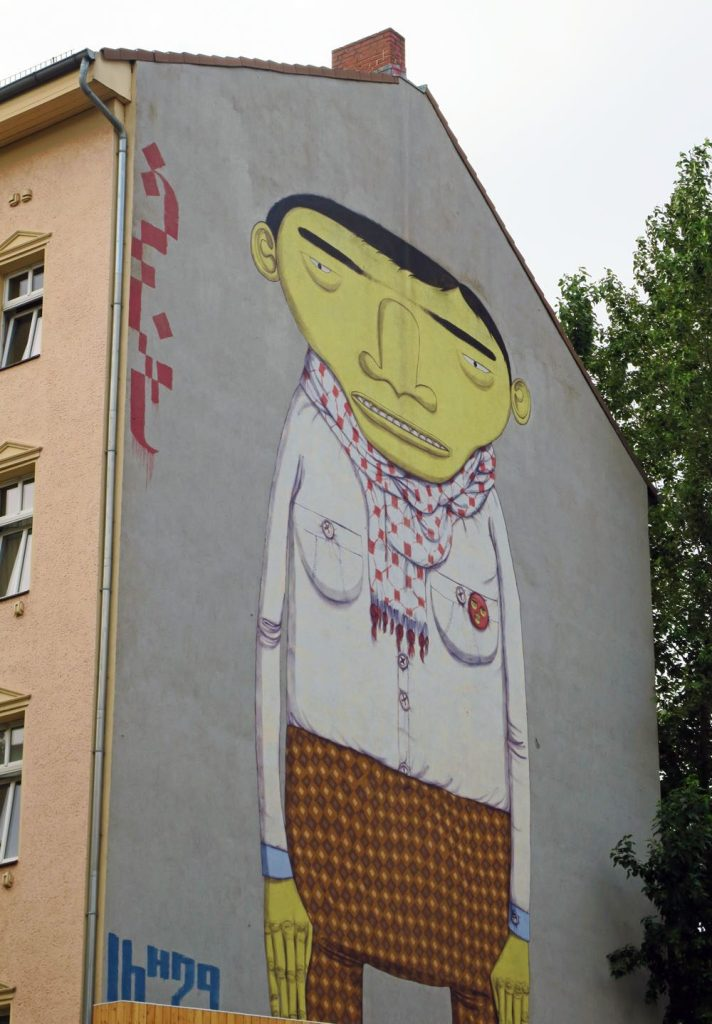 Yellow Man Berlin street art