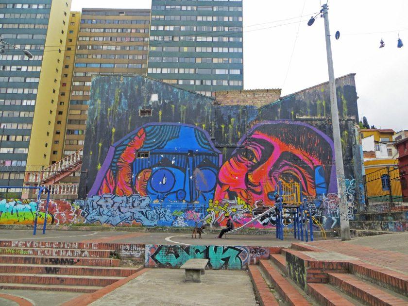 Bogota Street art mural playground