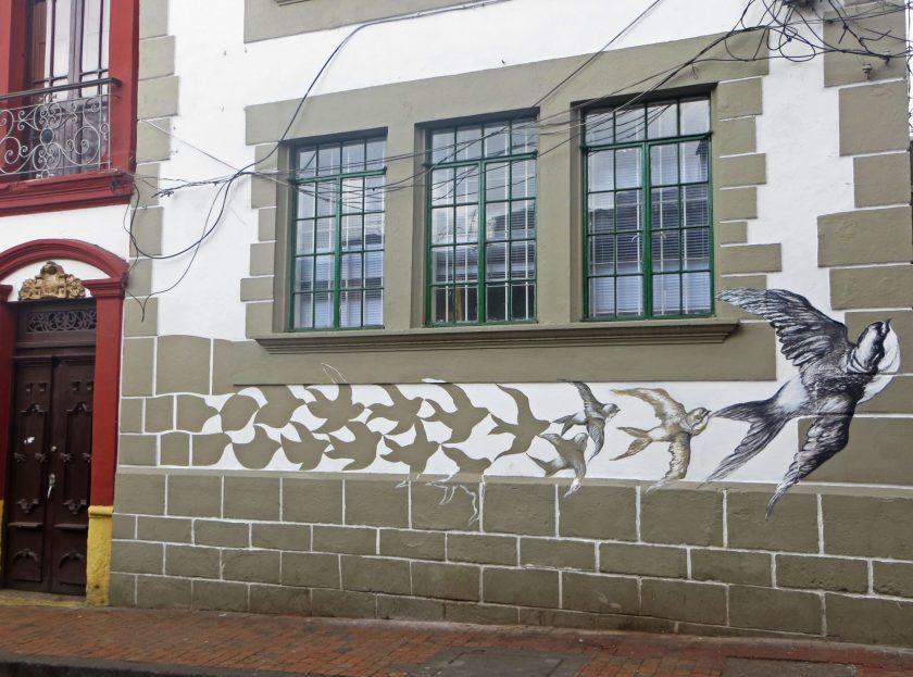 Bogota street art birds