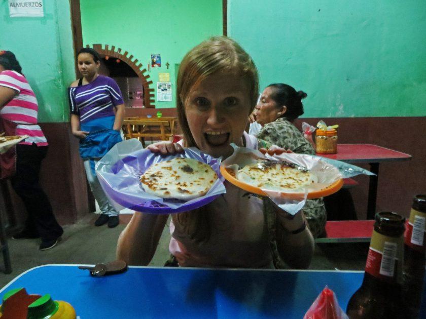 Pupusas Suchitoto El Salvador. Vegetarian Latin American Food
