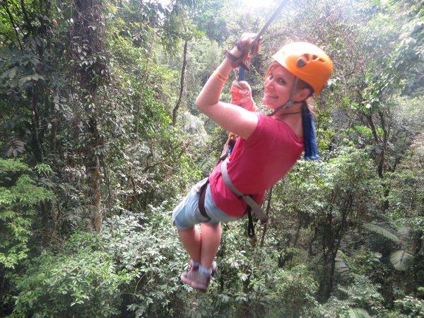 Zip lining Costa Rica personal challenge for wandering feline
