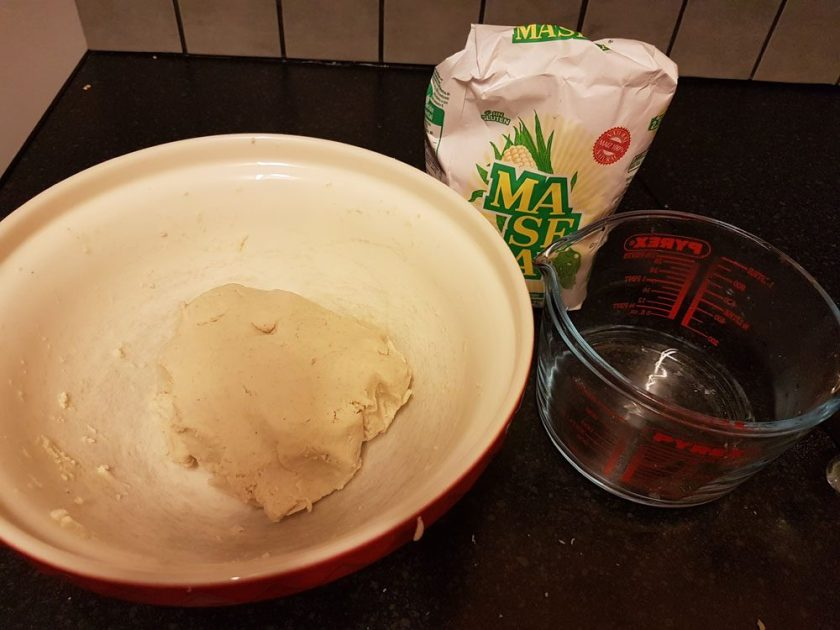 Pupusa dough - masa de harina