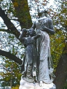 This broken mother and daughter statue in Columbus reminds me of my friend in Syria