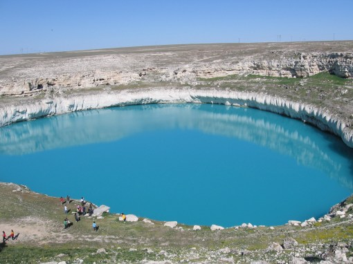the bluest lake i've ever seen