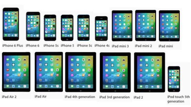 iOS 9 совместимые модели