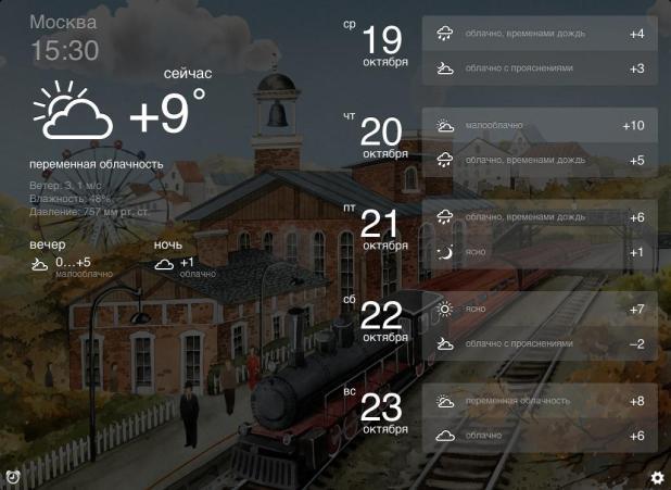 """Jandeks Pogoda"" dlja iOS"