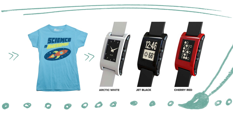 Science Is Awesome! t-shirt and Pebble Watch for Android. Want!