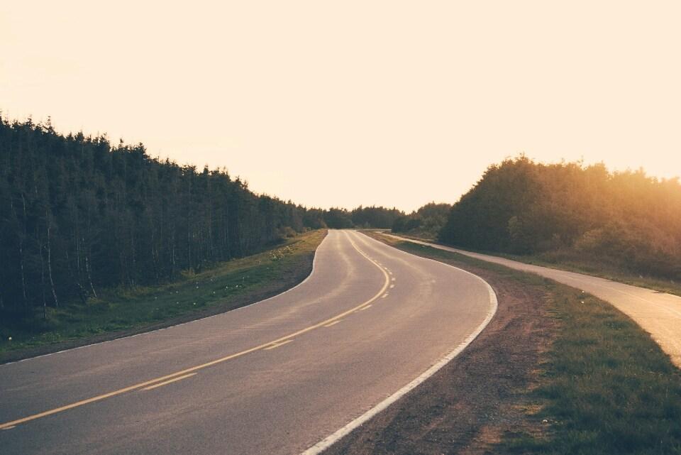 A Sunset Drive in Cavendish, Prince Edward Island