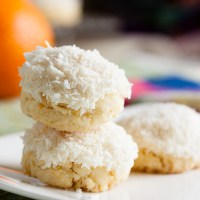 coconut orange butter cookies