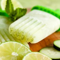cucumber lime mint popsicles