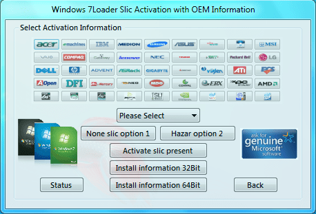 windows 7 loader activator  by daz v2 2.2