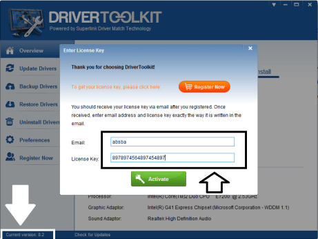 Driver Toolkit 8.5 License key Keygen & Email Free Download