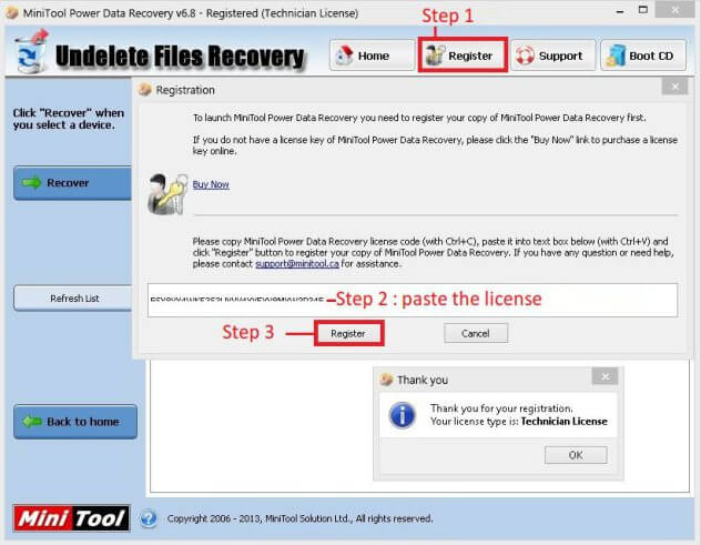 Don t try disk data recovery software with a cracked serial key