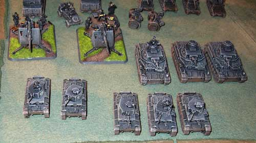 An example of early war paint scheme for a Flames of War Panzerkompanie